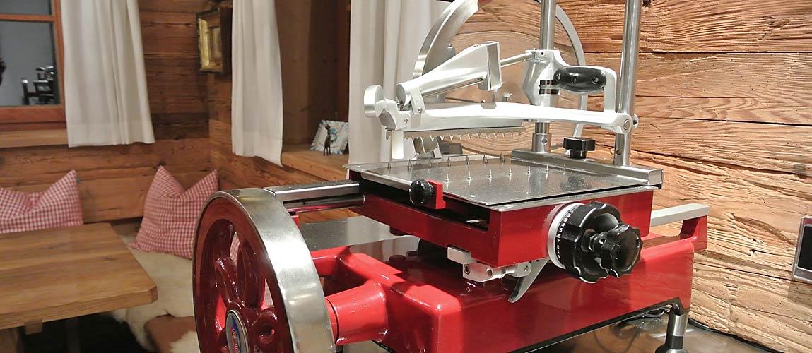 traditionelle Aufschnittmaschine